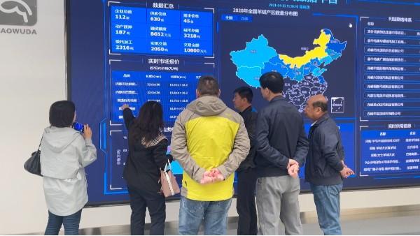 内蒙古自治区纤检局一行领导到赤峰昭乌达羊绒走访调研