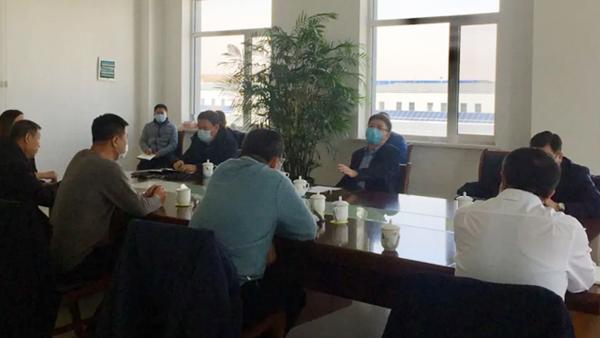 市政府副市长周金桩一行领导到昭乌达羊绒调研